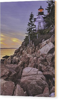 Bass Head Lighthouse Wood Print by Thomas Schoeller