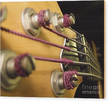 Wood Print featuring the photograph Bass II by Andrea Anderegg