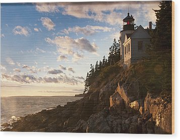 Wood Print featuring the photograph Bass Lighthouse by Paul Miller