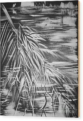 Bass On The Beach Wood Print by Adriana Garces