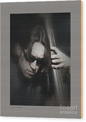 Wood Print featuring the photograph Bass Player by Pedro L Gili