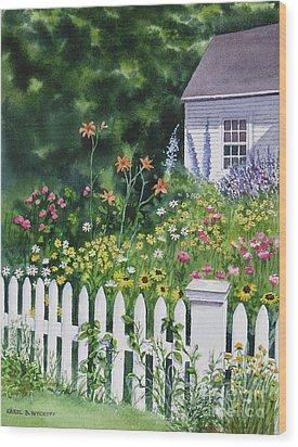 Bass River Cottage Wood Print by Karol Wyckoff