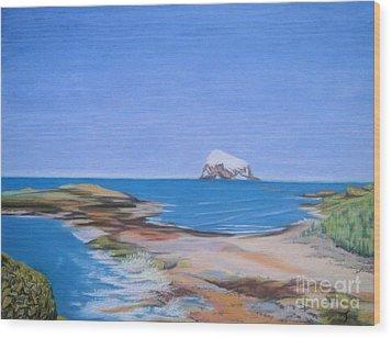 Bass Rock North Berwick Wood Print by Yvonne Johnstone