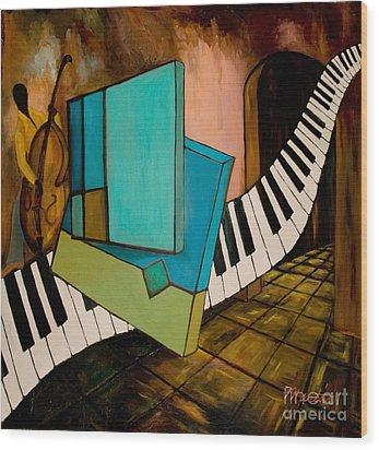 Bass Solo Wood Print by Larry Martin
