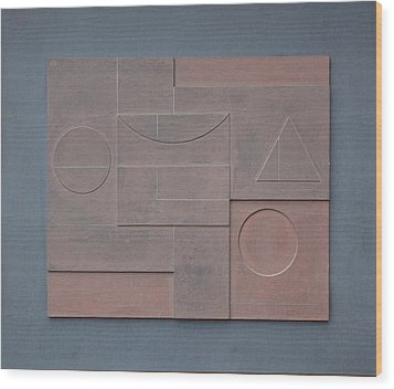Basso Relievo. 2002 Wood Print by Peter-hugo Mcclure