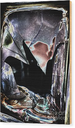 Bastrop Burning Broken Glass 1 Wood Print