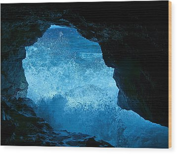 Bat Cave In Boracay Wood Print by Victoria Lakes