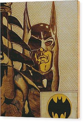 Bat Man Wood Print by Dan Wagner