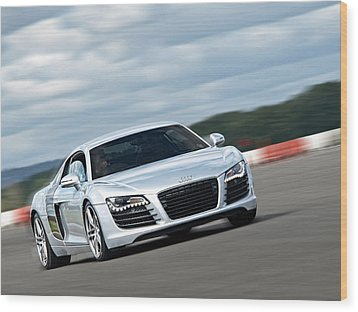 Bat Out Of Hell - Audi R8 Wood Print by Gill Billington
