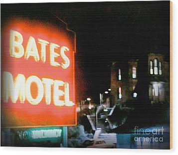 Bates Motel Vacancy Wood Print