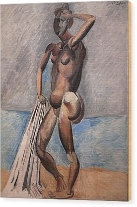Bather Wood Print by Pablo Picasso
