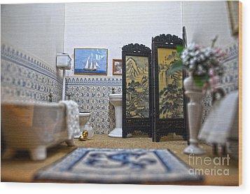 Bathroom For Royal Dolls Wood Print by RicardMN Photography