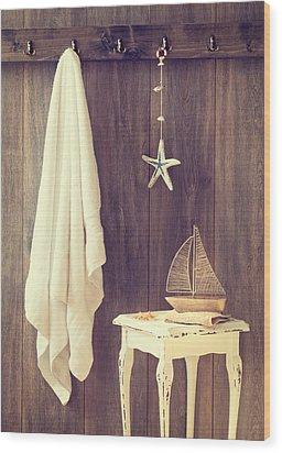 Bathroom Interior Wood Print by Amanda Elwell