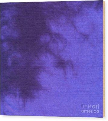 Batik In Purple Shades Wood Print by Kerstin Ivarsson