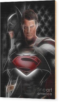 Batman Vs Superman  Wood Print