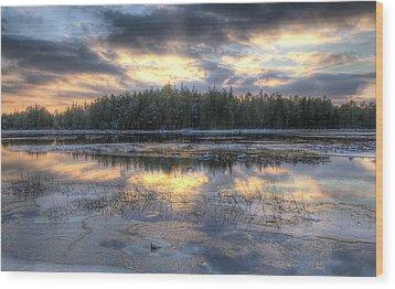 Batsto Lake Sunset1 Wood Print