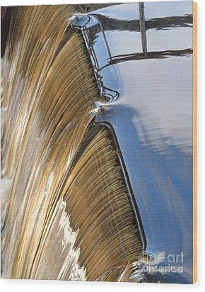 Batsto Waterfall Wood Print by Louise Reeves