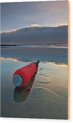 Batter-ed By The Sea Wood Print by Peter Tellone