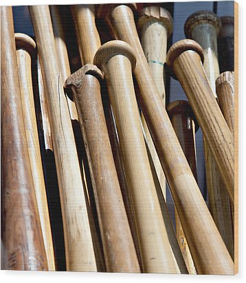 Batter Up Wood Print by Art Block Collections