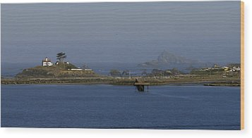 Battery Point Lighthouse And Castle Rock Wood Print