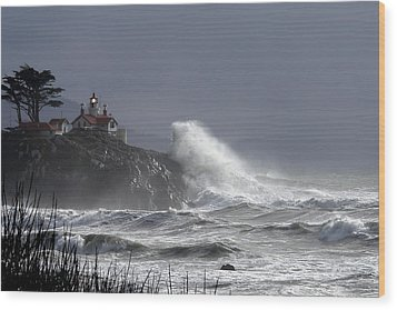 Battery Point Storm Wood Print