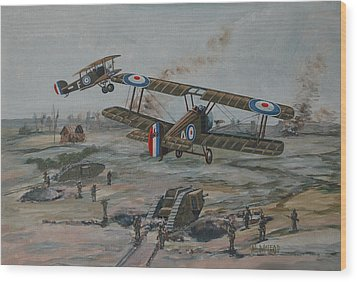 Wood Print featuring the painting Battle Of Amiens by Murray McLeod