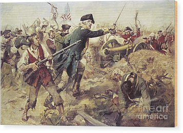 Battle Of Bennington Wood Print by Frederick Coffay Yohn
