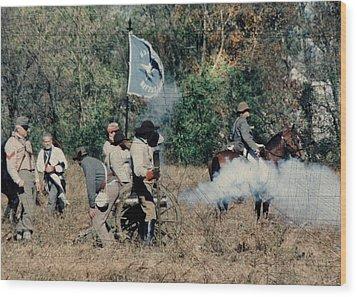 Battle Of Franklin - 3 Wood Print by Kae Cheatham