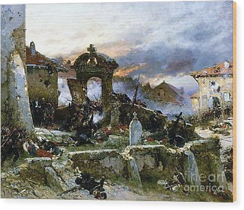 Battle Of Saint Privat Cemetary Wood Print by Pg Reproductions
