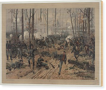 battle of Shiloh Wood Print
