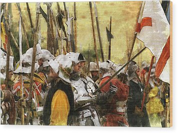 Wood Print featuring the digital art Battle Of Tewkesbury by Ron Harpham