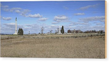 Battlefield At Gettysburg National Military Park Wood Print by Brendan Reals