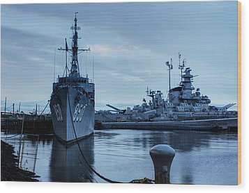 Battleship Cove Wood Print