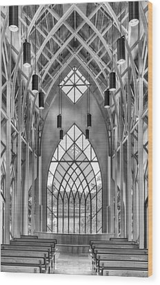 Wood Print featuring the photograph Baughman Meditation Center by Howard Salmon
