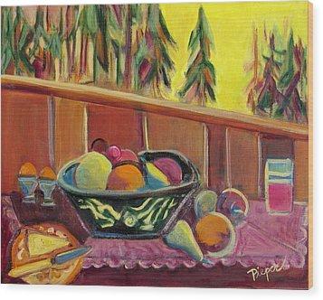 Bavarian Breakfast With Strawberry Milk Wood Print by Betty Pieper