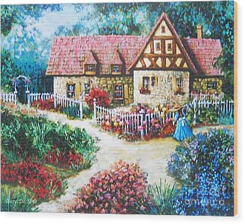 Bavarian Cottage Wood Print
