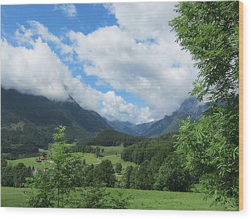 Bavarian Countryside Wood Print