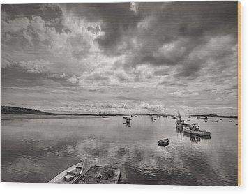 Bay Area Boats Wood Print by Jon Glaser