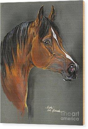Bay Horse Portrait Wood Print by Angel  Tarantella