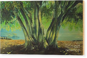 Bay Leaves Tree Wood Print by Alessandra Andrisani