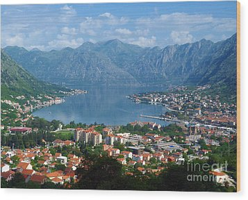 Bay Of Kotor - Montenegro Wood Print