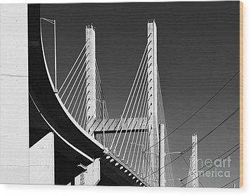 Baybridge Wood Print by Russell Christie