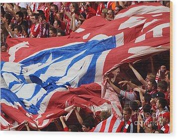 Bayern Munich Fans Wood Print by Rudi Prott