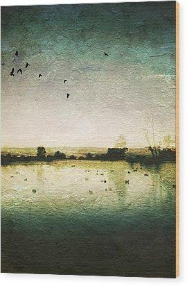 Baylands At Sunset Wood Print