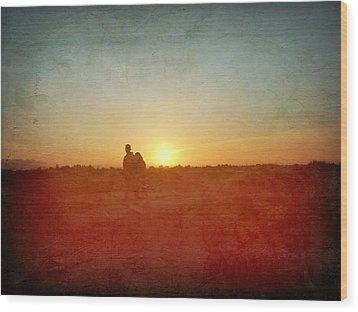 Baylands Sunset Wood Print