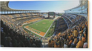 Baylor Gameday No 5 Wood Print by Stephen Stookey
