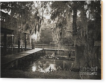 Bayou Evening Wood Print by Scott Pellegrin