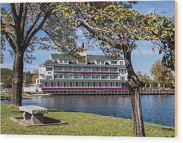 Baypoint Inn At Mill Falls Meredith Nh Wood Print