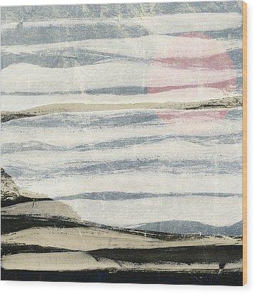 Bayshore Sunset Wood Print by Carol Leigh