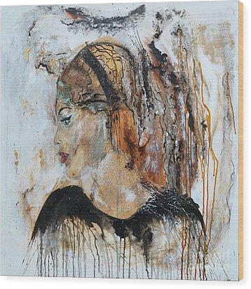 B.b. Wood Print by Ismeta Gruenwald